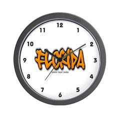 Florida Graffiti Wall Clock