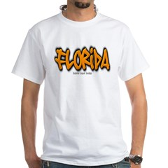 Florida Graffiti White T-Shirt