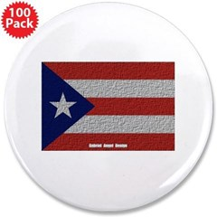 """Puerto Rico Cloth Flag 3.5"""" Button (100 pack)"""