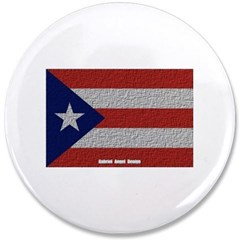 "Puerto Rico Cloth Flag 3.5"" Button"
