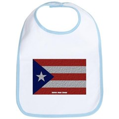Puerto Rico Cloth Flag Baby Bib