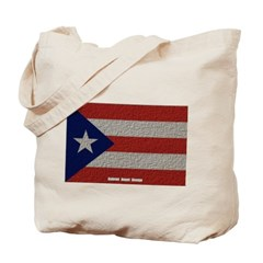 Puerto Rico Cloth Flag Canvas Tote Bag