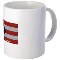 Puerto Rico Cloth Flag Coffee Mug