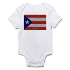 Puerto Rico Cloth Flag Infant Bodysuit