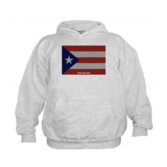 Puerto Rico Cloth Flag Kids Sweatshirt by Hanes