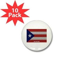 Puerto Rico Cloth Flag Mini Button (10 pack)