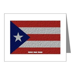 Puerto Rico Cloth Flag Note Cards (Pk of 20)