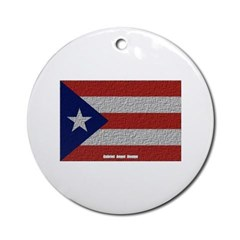 Puerto Rico Cloth Flag Ornament (Round)