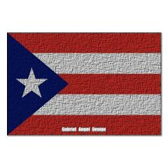 Puerto Rico Cloth Flag Posters