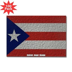 Puerto Rico Cloth Flag Rectangle Magnet (100 pack)