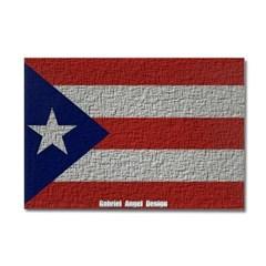 Puerto Rico Cloth Flag Rectangle Magnet
