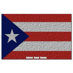 Puerto Rico Cloth Flag Small Posters