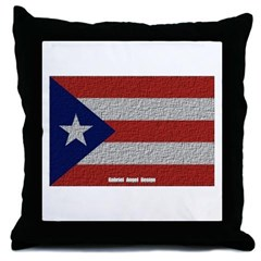 Puerto Rico Cloth Flag Throw Pillow