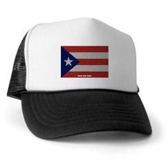 Puerto Rico Cloth Flag Trucker Hat