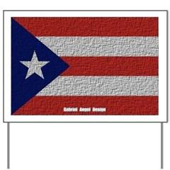 Puerto Rico Cloth Flag Yard Sign