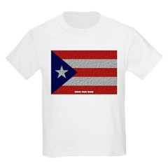Puerto Rico Cloth Flag Youth T-Shirt by Hanes
