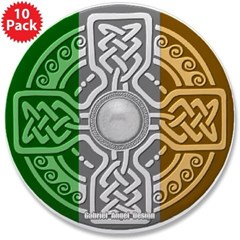 "Celtic Shield 3.5"" Button (10 pack)"