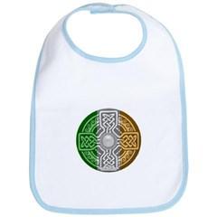 Celtic Shield Knot with Irish Flag Baby Bib