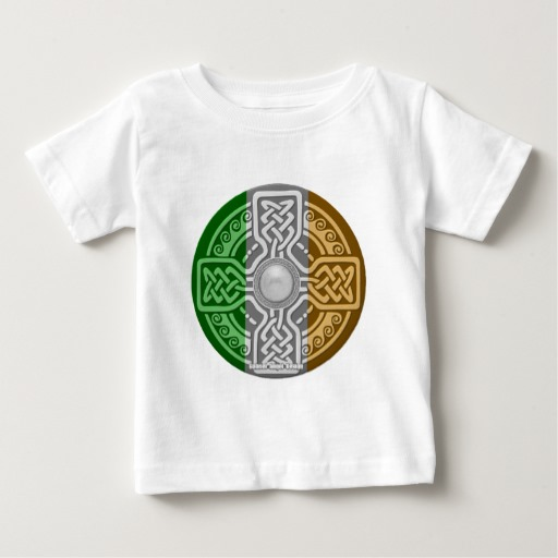 Celtic Shield Knot with Irish Flag Baby Fine Jersey T-Shirt