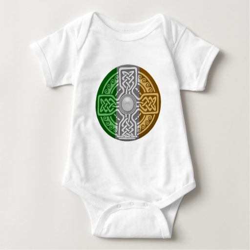 Celtic Shield Knot with Irish Flag Baby Jersey Bodysuit
