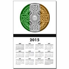 Celtic Shield Knot with Irish Flag Calendar Print