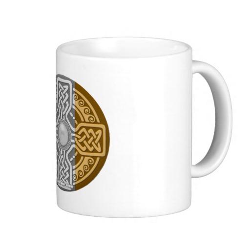 Celtic Shield Knot with Irish Flag Classic White Mug