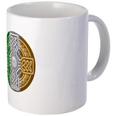 Celtic Shield Knot with Irish Flag Coffee Mug