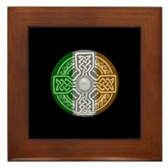 Celtic Shield Knot with Irish Flag Framed Tile