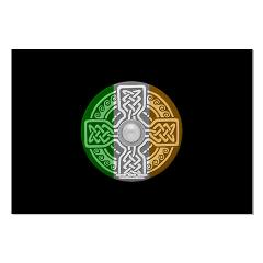 Celtic Shield Knot with Irish Flag Large Posters