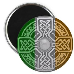 Celtic Shield Knot with Irish Flag Magnet