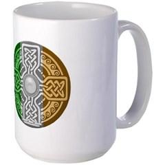 Celtic Shield Knot with Irish Flag Mug