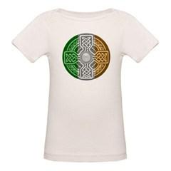 Celtic Shield Knot with Irish Flag Organic Baby Tee