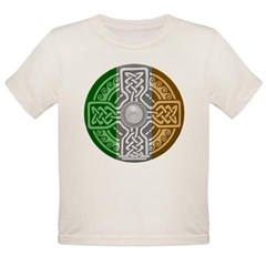 Celtic Shield Knot with Irish Flag Organic Toddler T-Shirt