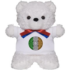 Celtic Shield Knot with Irish Flag Teddy Bear