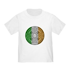 Celtic Shield Knot with Irish Flag Toddler T-Shirt