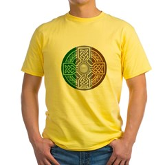 Celtic Shield Knot with Irish Flag Yellow T-Shirt