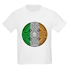 Celtic Shield Knot with Irish Flag Youth T-Shirt by Hanes