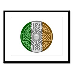Celtic Shield Large Framed Print