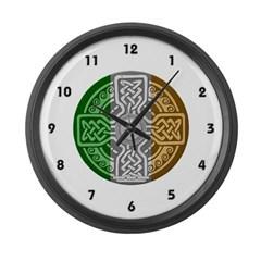 Celtic Shield Large Wall Clock