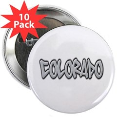 "Colorado Graffiti 2.25"" Button (10 pack)"