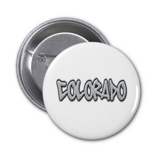 Colorado Graffiti 2 Inch Round Button