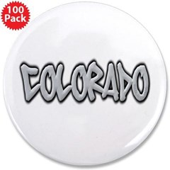 "Colorado Graffiti 3.5"" Button (100 pack)"