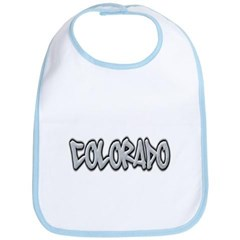 Colorado Graffiti Baby Bib