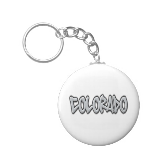Colorado Graffiti Basic Button Keychain