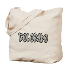 Colorado Graffiti Canvas Tote Bag