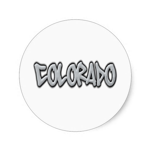 Colorado Graffiti Classic Round Sticker