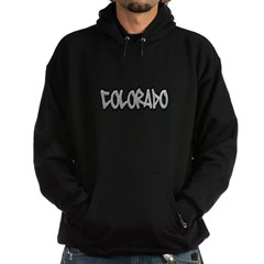 Colorado Graffiti Dark Hooded Sweatshirt