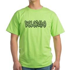 Colorado Graffiti Green T-Shirt