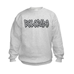 Colorado Graffiti Kids Crewneck Sweatshirt by Hanes