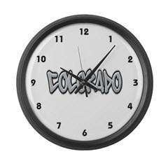 Colorado Graffiti Large Wall Clock
